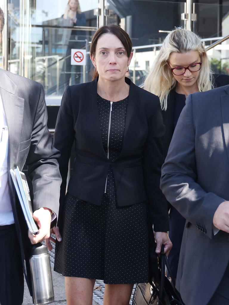 Senior Constable Forte's wife, Senior Constable Susan Forte, at the inquest into the death of her husband. Picture: Peter Wallis