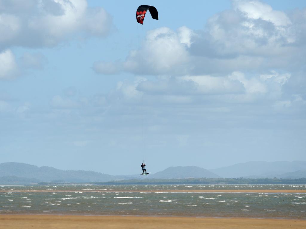 Kiteboarderes at Town Beach, Mackay.