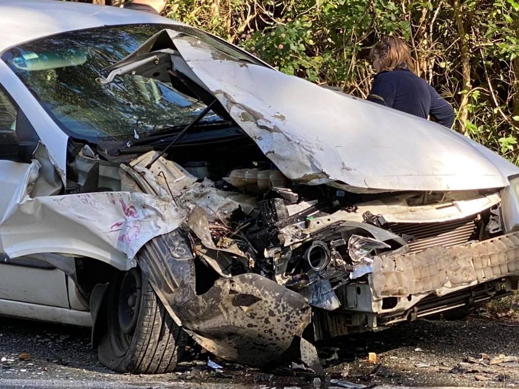 A car crash at Pomona Kin Kin Road. Picture: ABC