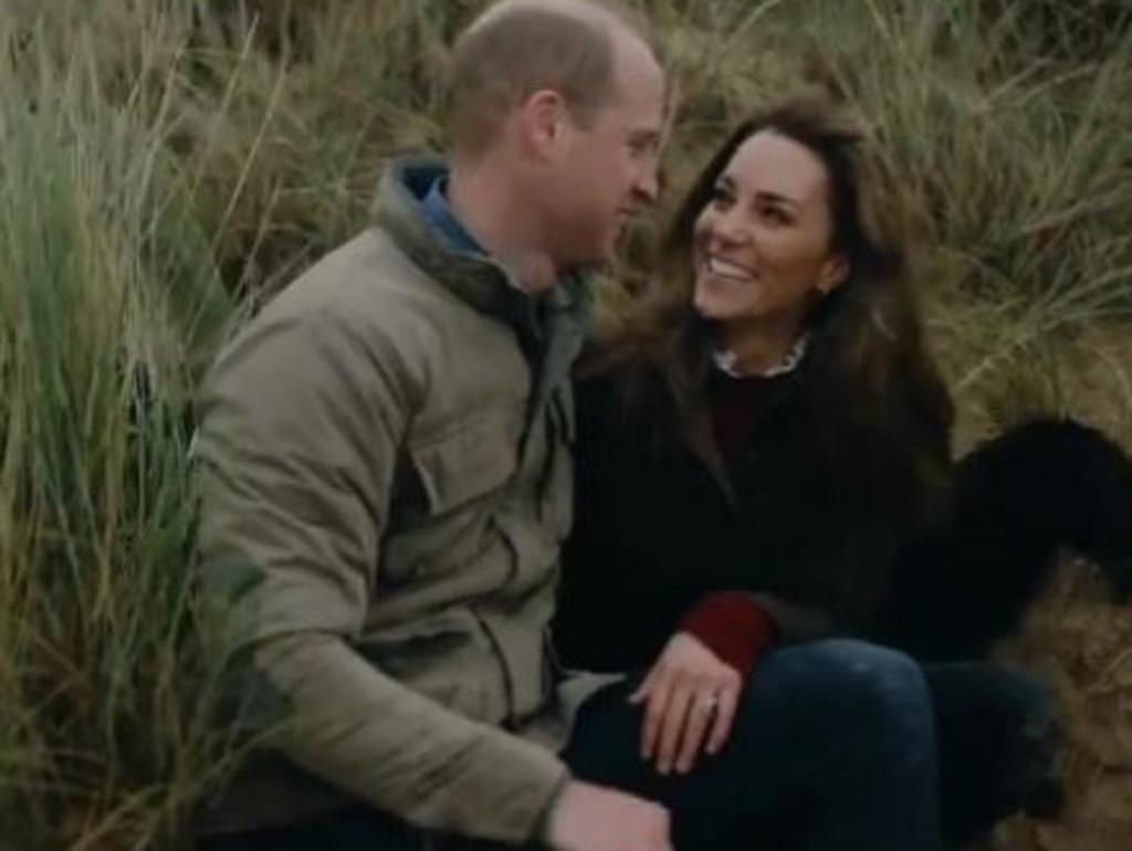 Prince William and Kate Middleton have released a home video to mark their 10th wedding anniversary. Picture: Twitter