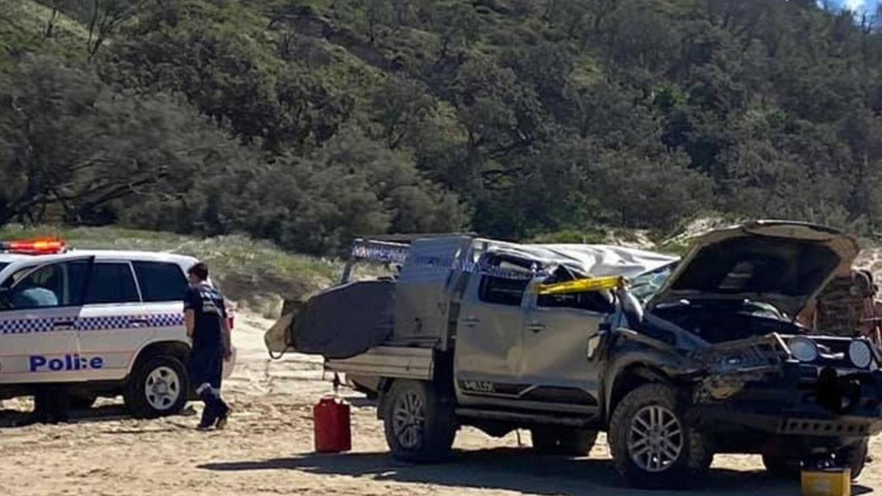 Three people were injured in this rollover last weekend.