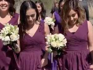 Bridesmaids slammed for wedding stunt