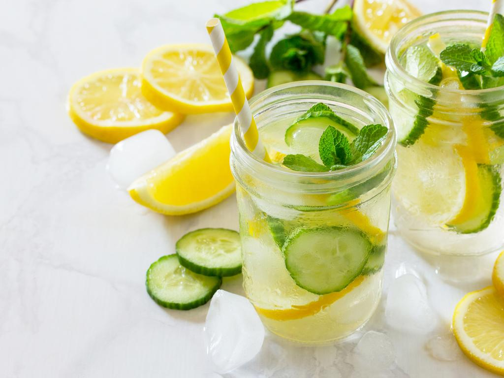 Skip the expensive vitamin waters and energy drinks, plain water is the best option. Picture: iStock
