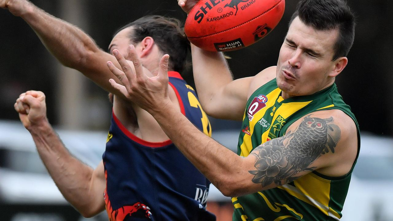 Maroochydore Roos club physio Laura Wade has backed updated concussion guidelines for community aussie rules. Pictured is Roos player Mitchell Scholard. Picture: John McCutcheon
