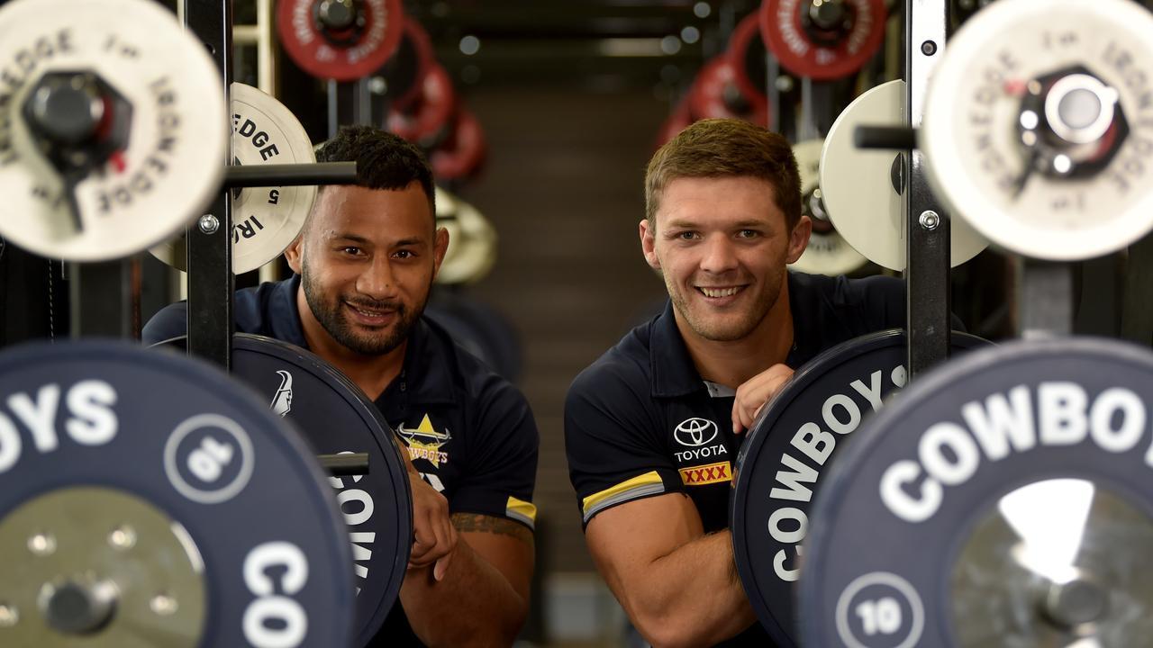 North Queensland gym freaks Francis Molo and Corey Jensen. Picture: Evan Morgan