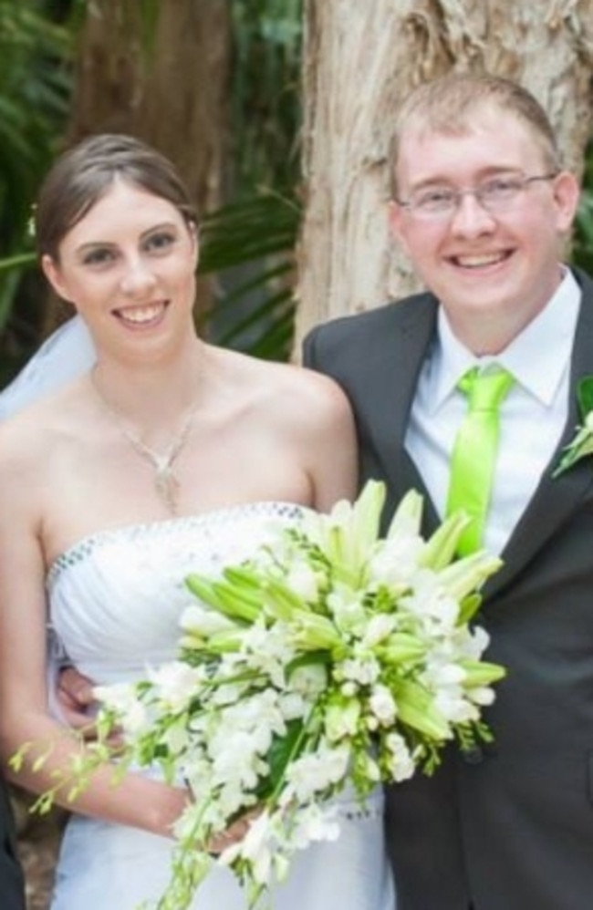 Kelly Wilkinson and her accused killer, estranged husband Brian Johnston. Picture: Facebook