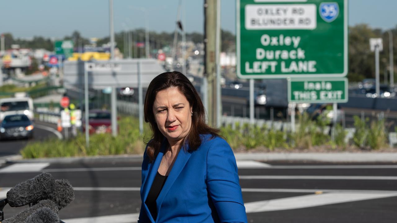 Premier Annastacia Palaszczuk at the opening of the $400 million Ipswich Motorway upgrade between Rocklea and Darra.