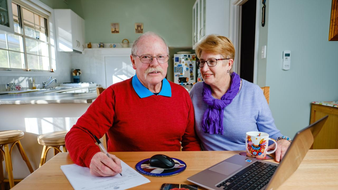 Scams targeting elderly people are common. Westpac helped John Jones, 71 and his wife Valerie, 69, from losing a great deal of money. Picture: Supplied