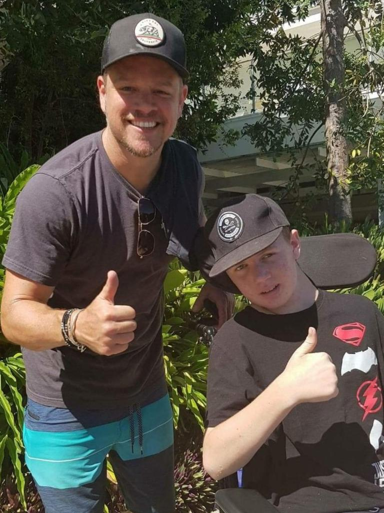Hollywood star Matt Damon throws his support behind Rainbow Beach student Tristan Sik.