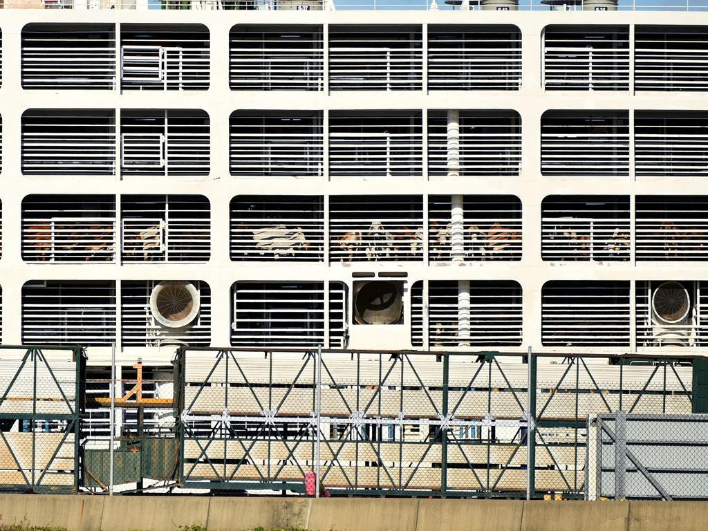 The vessel Polaris 3 (Livestock Carrier) docked in Townsville Port. Picture: Alix Sweeney