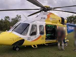 Man airlifted with injuries after beach motorbike crash