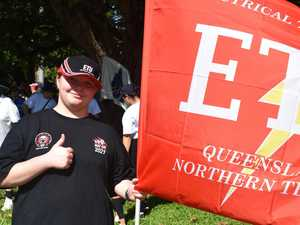 Mackay teen carries on Labour Day march tradition for dad