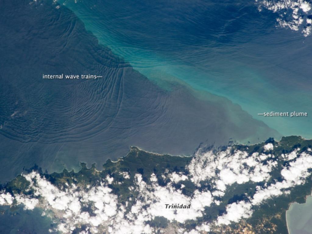 Internal waves around Trinidad. Picture: NASA