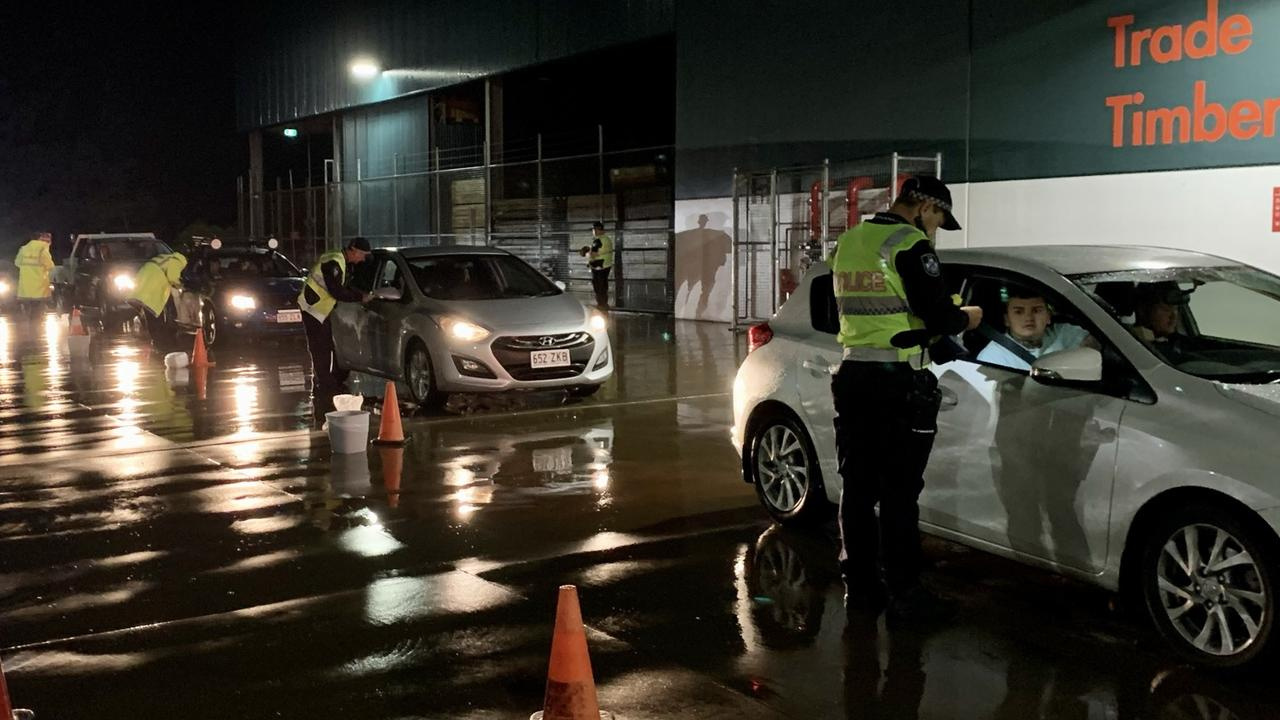 Northern Beaches police conducted more than 700 random breath tests at a static operation in Bunnings carpark ahead of the long weekend. Picture: Rae Wilson