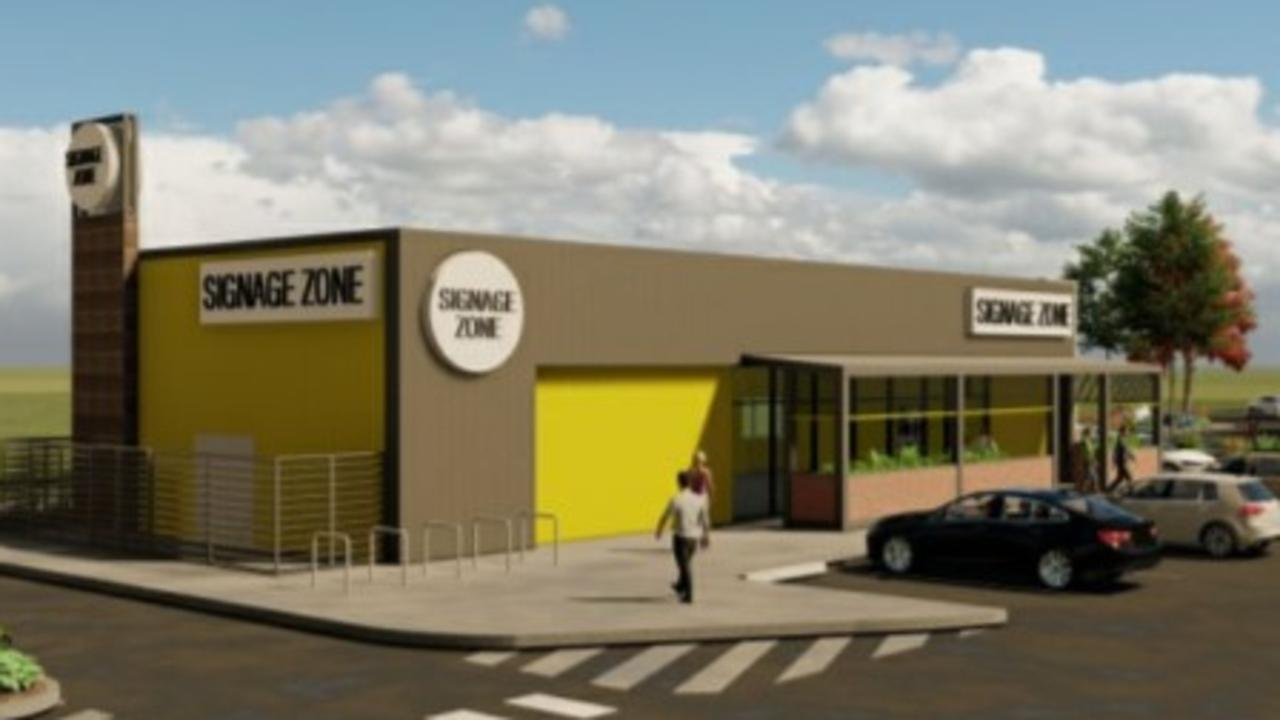 Plans submitted to Mackay Regional Council to build a new drive-thru takeaway at the HomeCo centre along Mackay Bucasia Road in Richmond. Picture: Supplied