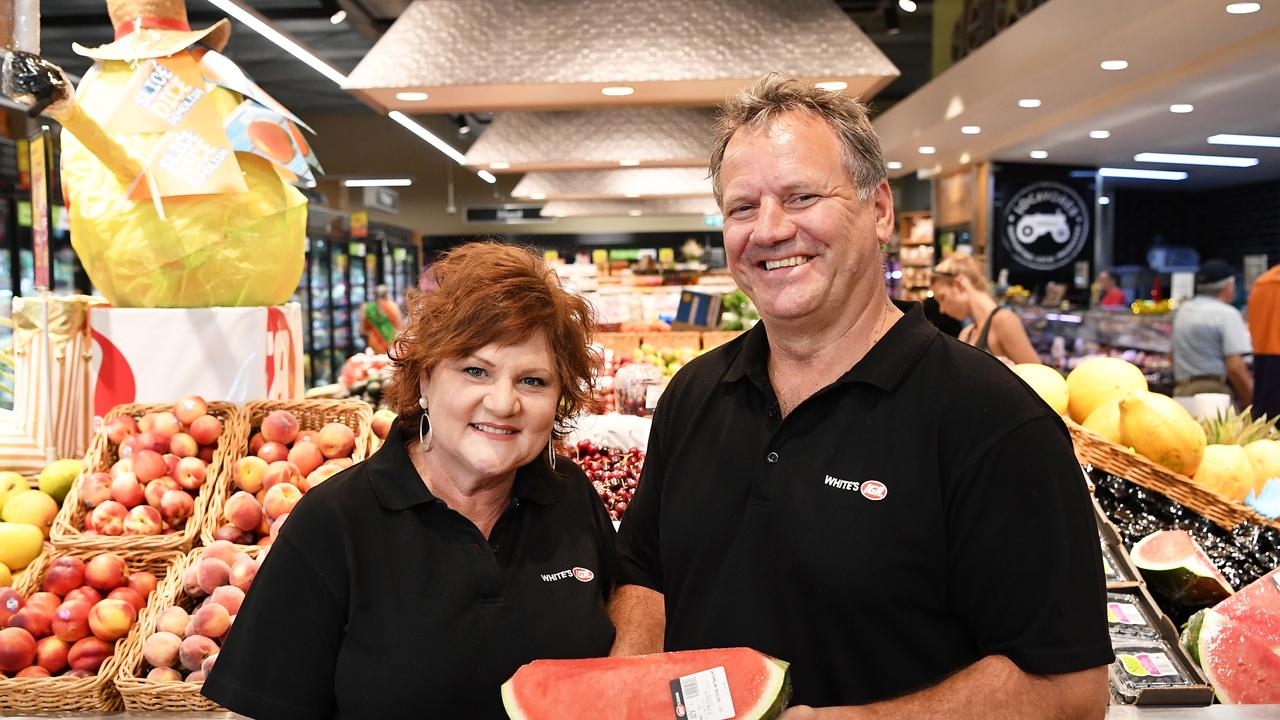 Owners of IGA Mooloolah Roz and Michael White. Picture Patrick Woods