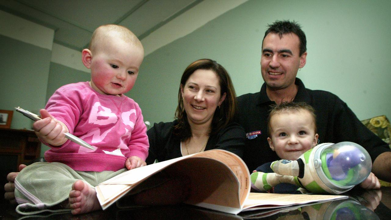Tammie and Guy Wightman with their children Emma and Drew completing a previous Census form.