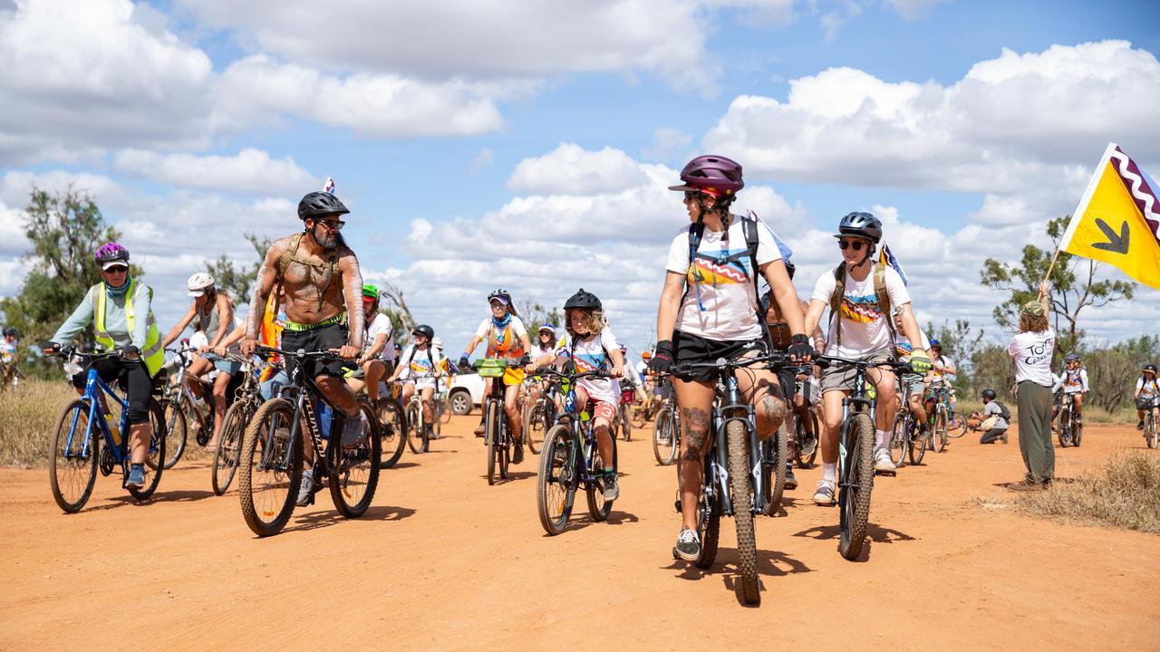 Participants in the Tour De Carmichael. Picture: supplied