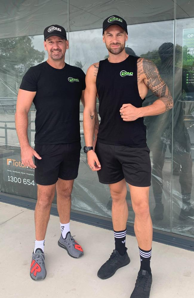 Tavita Karika (right) was the former head trainer at Coolum's 12RND Fitness.