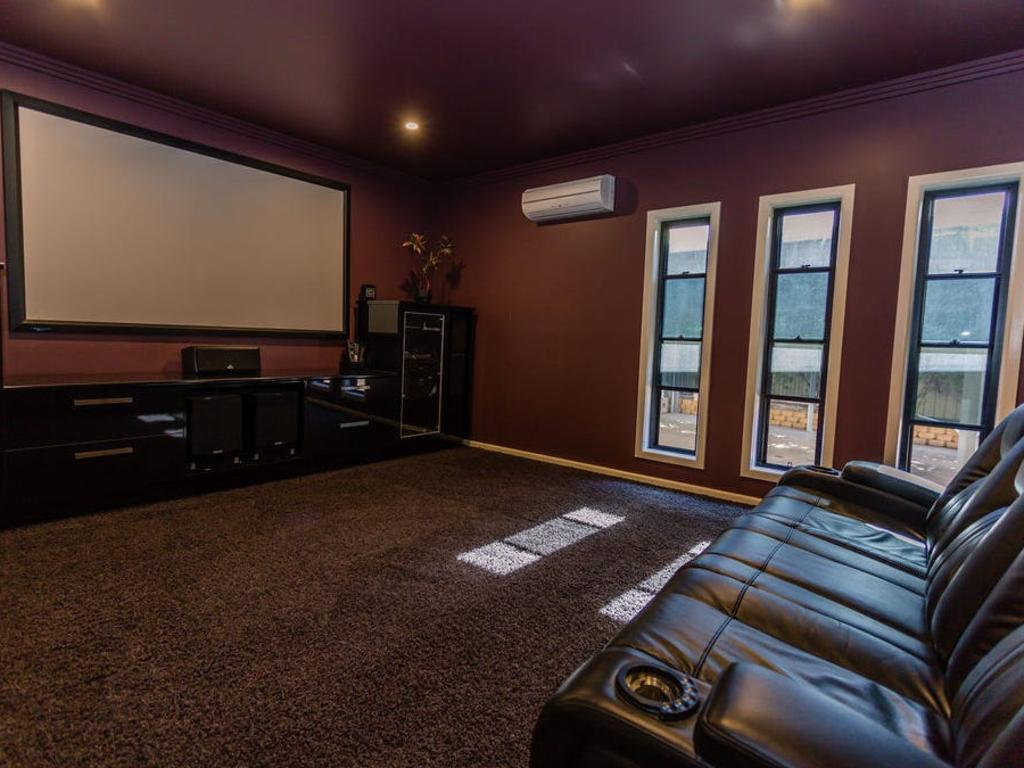 The home has its own customised media room.