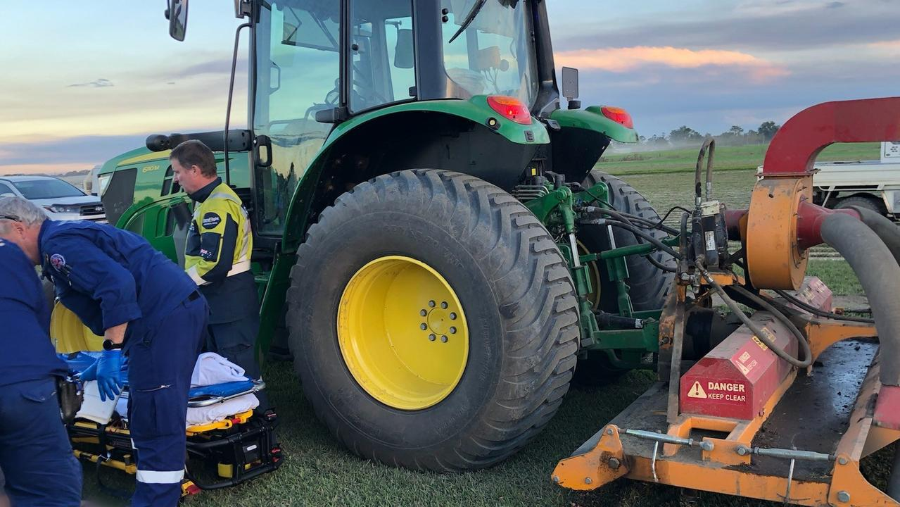 A man amputated his own leg with a lawnmower. Picture: supplied CareFlight