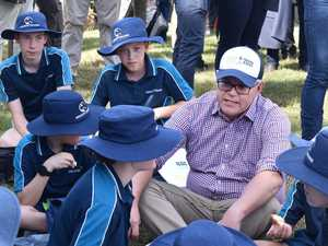 Chicken or beef? Students ask ScoMo the tough questions