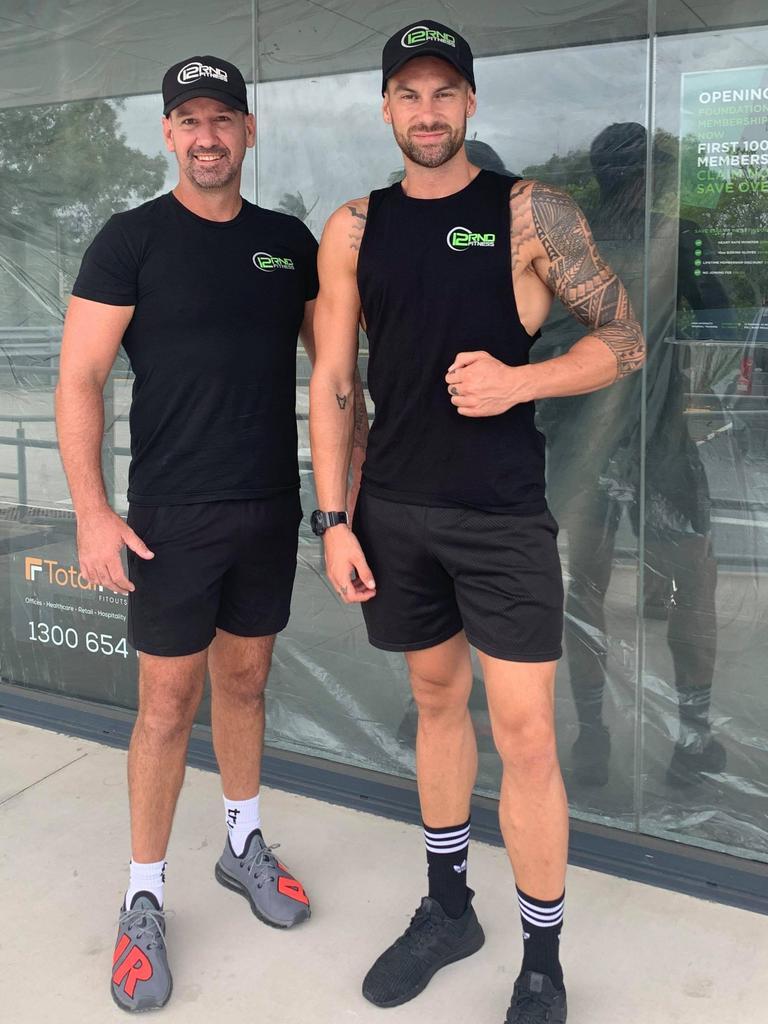 Owner (left) Conrad Smallcombe and head trainer Tavita Karika at Coolum's 12RND Fitness.