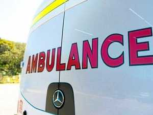 Rider rushed to hospital after collision with vehicle