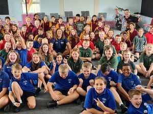 Collinsville kids embrace NRL star's mental health message