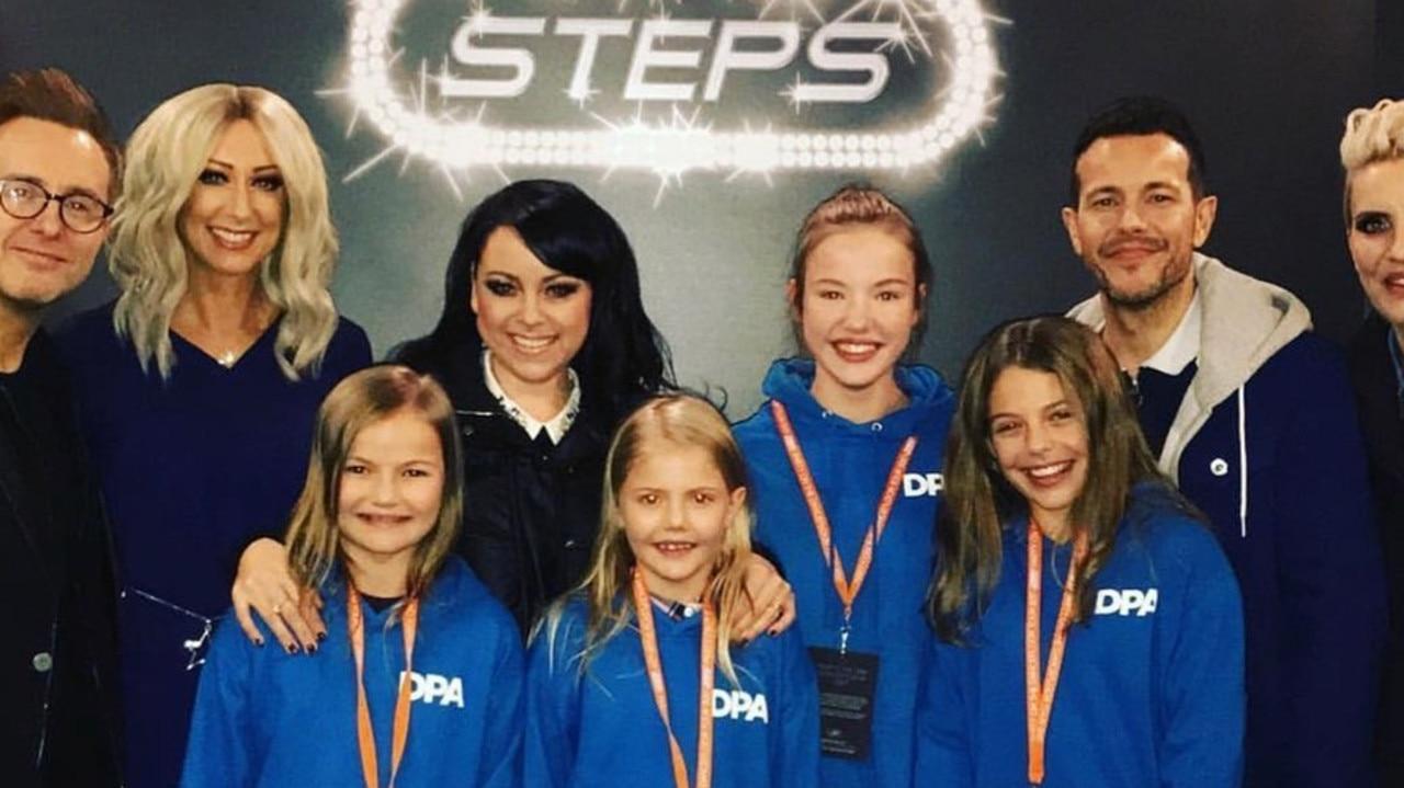 Lisa Scott-Lee alongside her bandmates and pupils at her performing arts school in Dubai. Picture: Dubai Performing Arts Instagram