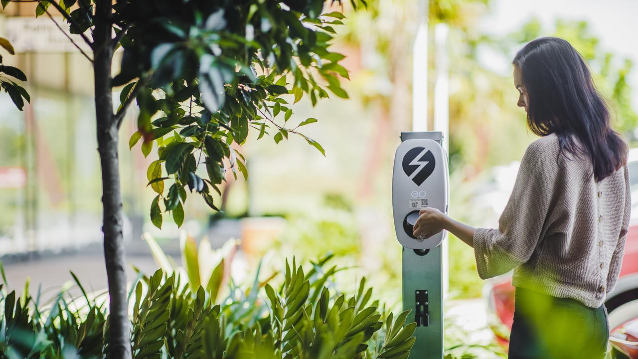 Two free-to-use electric vehicle charging stations have been installed at Ripley Town Centre.
