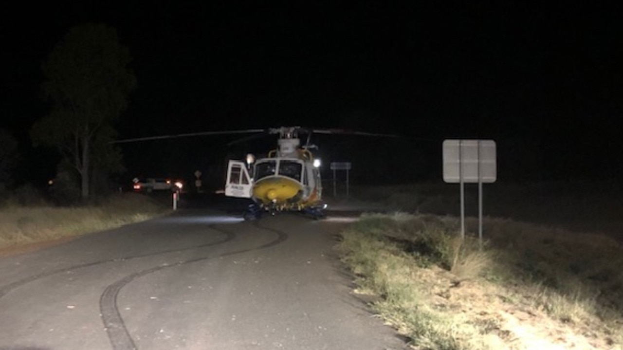 RACQ Capricorn Rescue was tasked to attend the crash. Picture: RACQ Capricorn Rescue