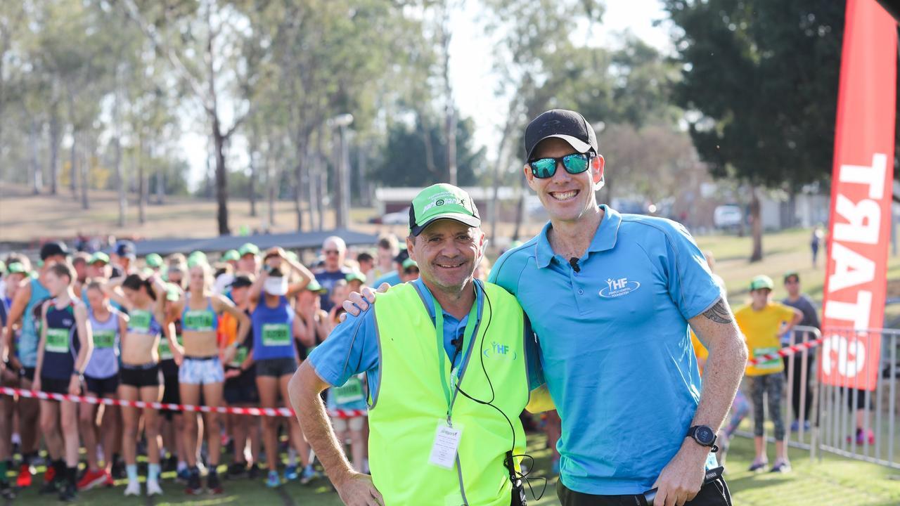 Park2Park race director Chris Gale with Joel Murray.
