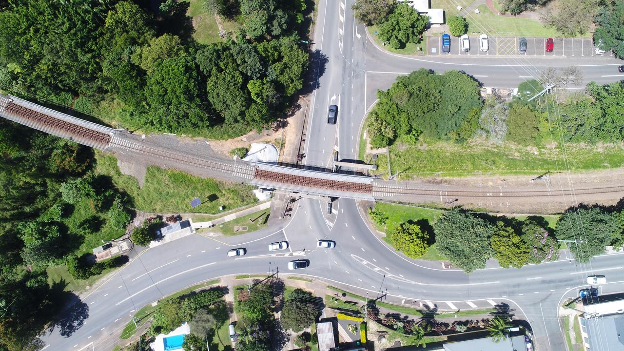 Aerial photo of Margaret Street, Jubilee Drive and Woombye Palmwoods connection Roads. Picture: Patrick Woods.