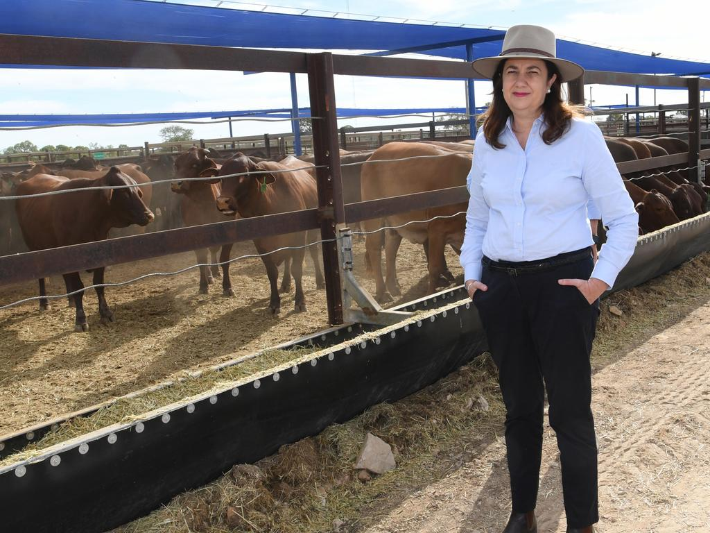 Queensland Premier Annastacia Palaszczuk visited towns in western Queensland, including Longreach on Tuesday, May 4.