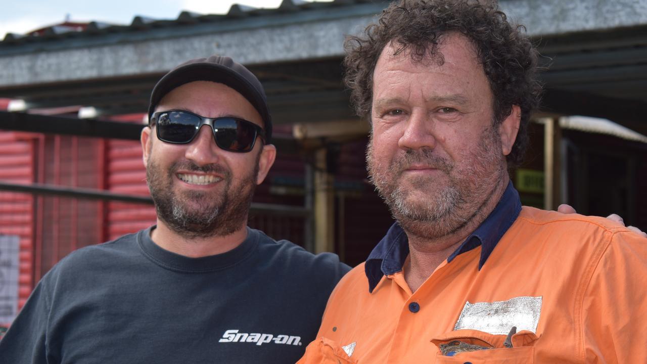 Aspen Szeitszam and Gus Gutschlag at the Queensland Mud Trials Championships in Sarina, 2021. Picture: Lillian Watkins