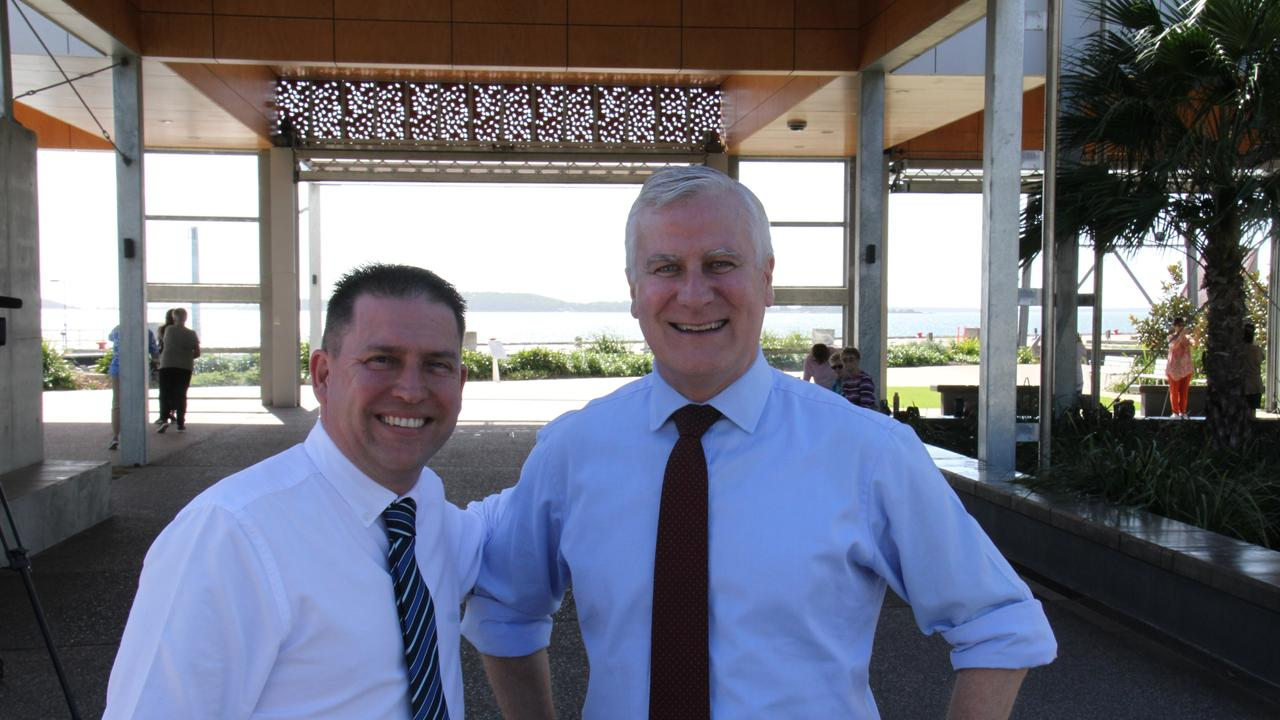 Gladstone Mayor Matt Burnett with Deputy Prime Minister Michael McCormack at Gladstone. The Deputy PM says the nation