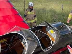 New photos: Pilot of crashed plane reveals one thing that saved his life