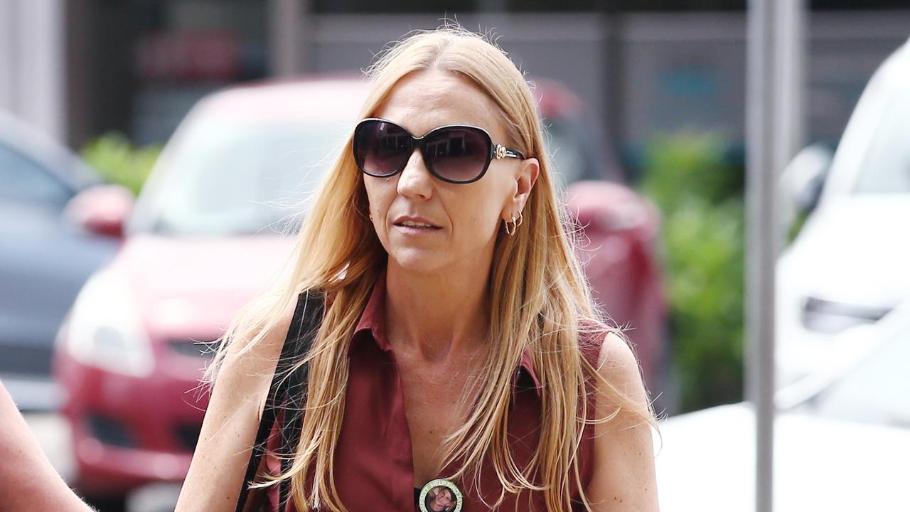 Rachel Penno, mother of missing man Jayden Penno-Tompsett, enters the Cairns Courthouse. Picture: Brendan Radke