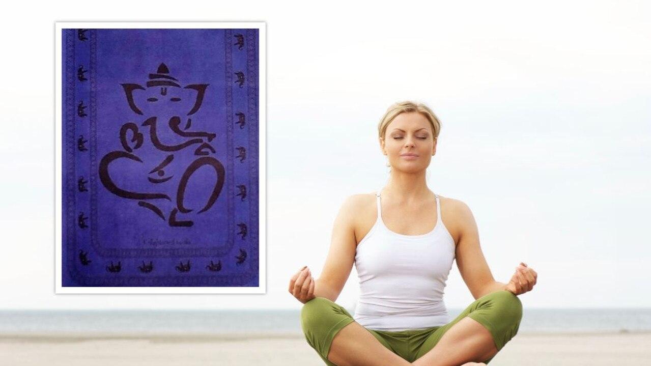Enlightened Koala has removed a yoga mat featuring an image of Hindu deity Ganesha.