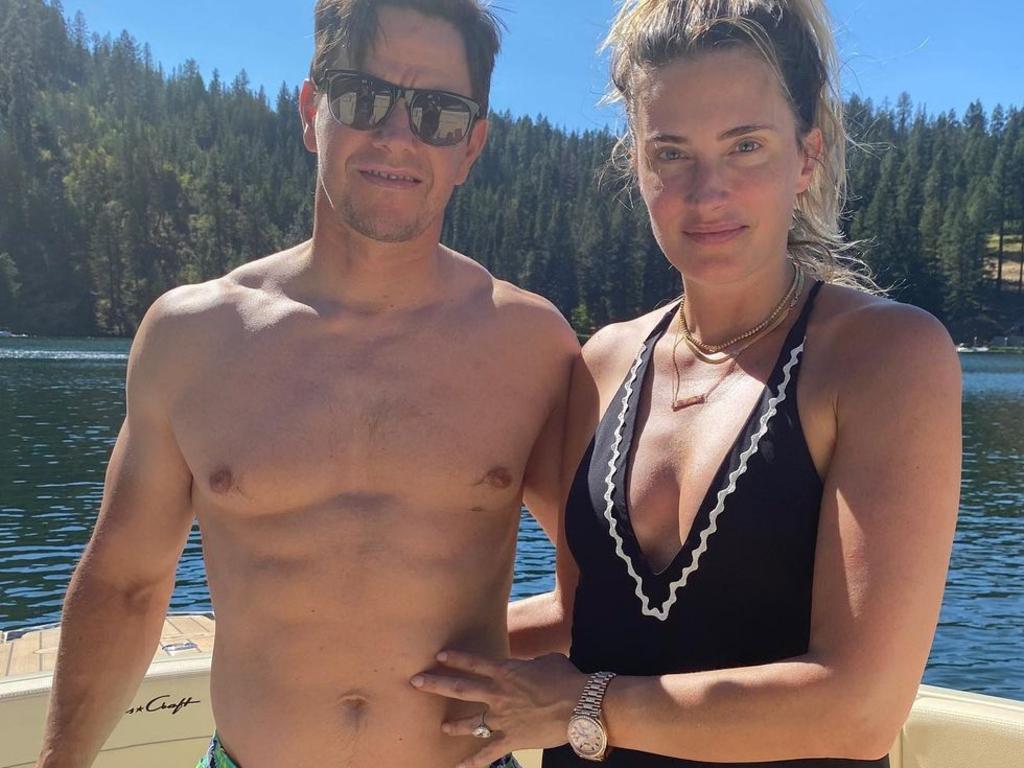 Mark Wahlberg and his wife, Rhea.