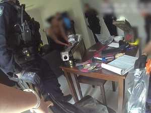 Video: Gun, drugs and cash seized in Blacks Beach house