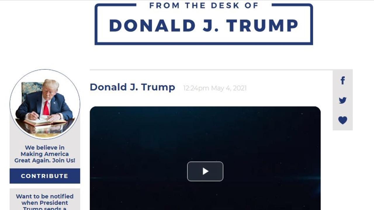 Donald Trump's new way of communicating.