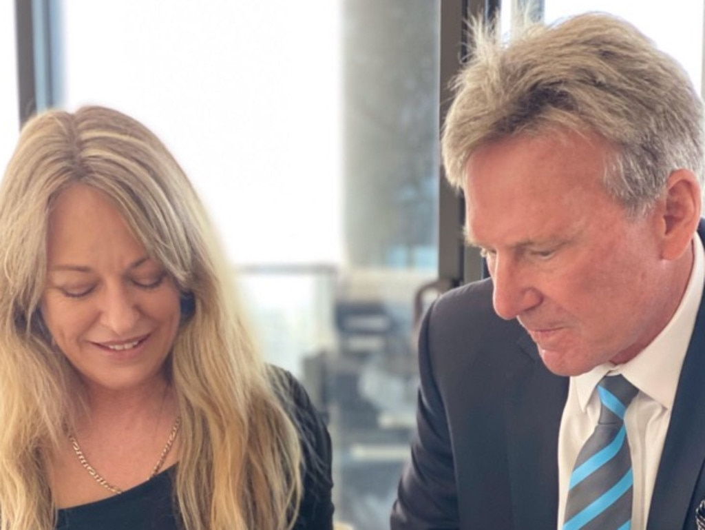 Sam Newman and new Wife Amanda Brown. On their wedding day.
