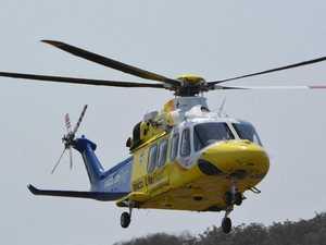 'Serious head injury': Car crashes into yard