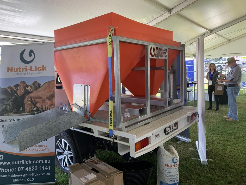 Mitchell brothers Will and Jack Jones have showed off their Ute Schute at Beef Australia 2021. Pic: Lachlan Berlin