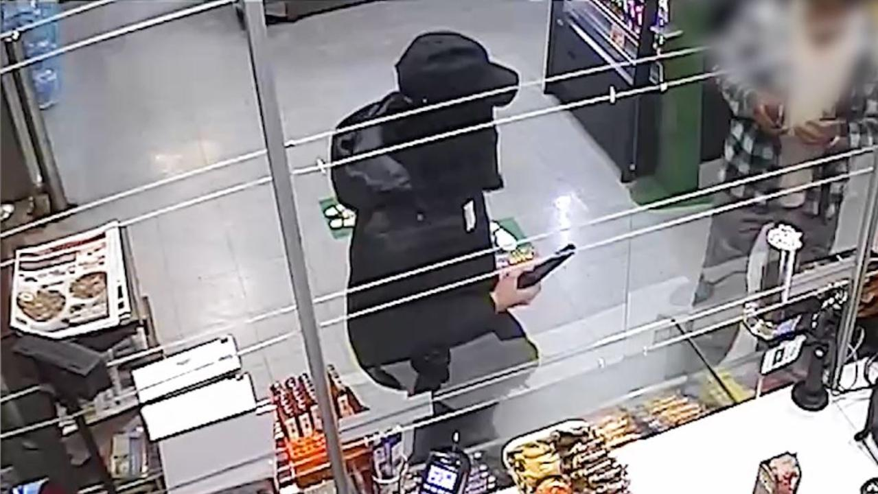 Police are investigating the armed robbery of an Ipswich convenience store early on Thursday morning.