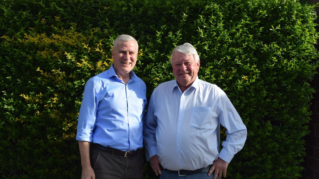 Deputy Minister Michael McCormack and Member for Flynn Ken O'Dowd.