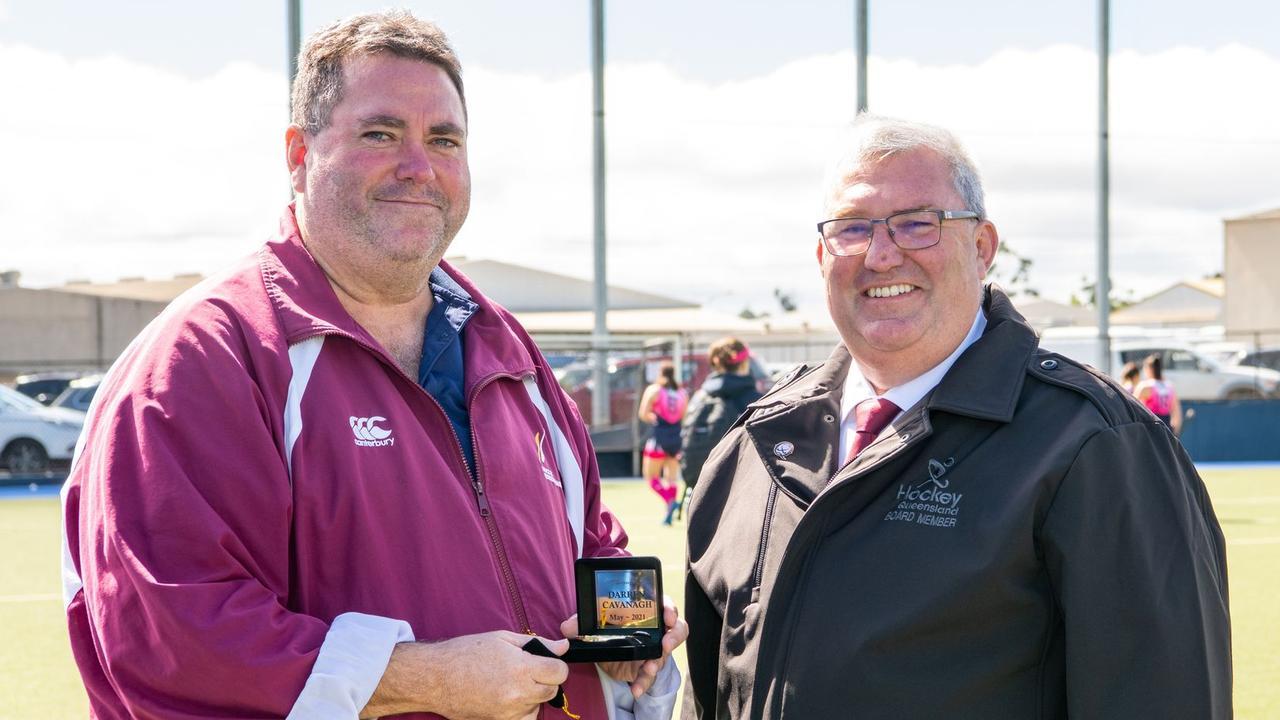 Darren Cavanagh Life Membership with HQ President Steve Stewart.