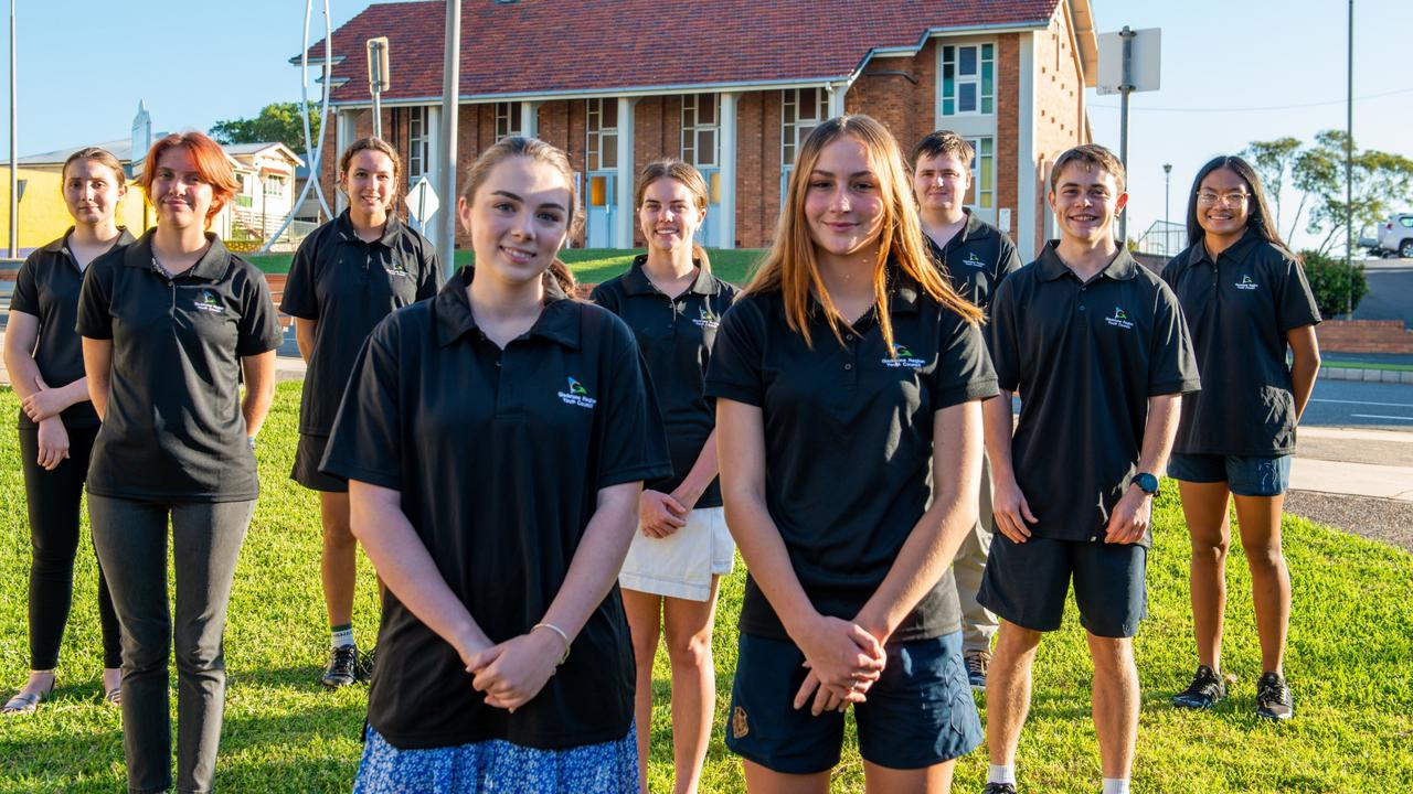 2021 Gladstone Region Youth Council - (L to R): Alexa Marxsen, Taylah Cubis, Stella Potter, Brooke Assman, Charlise Falconer, Gypsy Cantwell, Aaron Yea, William Patrick and Rommiel Malig. ABSENT: Layla Dow.
